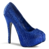 TEEZE-06R Royal Blue Satin/Rhinestone